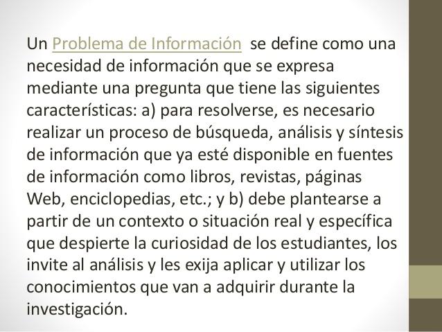Problèmes d'information